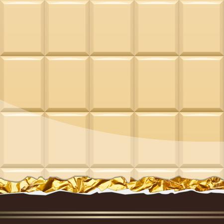Milk Chocolate pattern. Vector Illustration