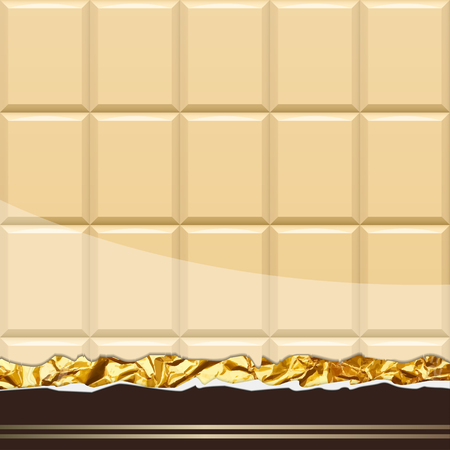 Modèle de chocolat au lait. Illustration Vecteur Banque d'images - 77247479