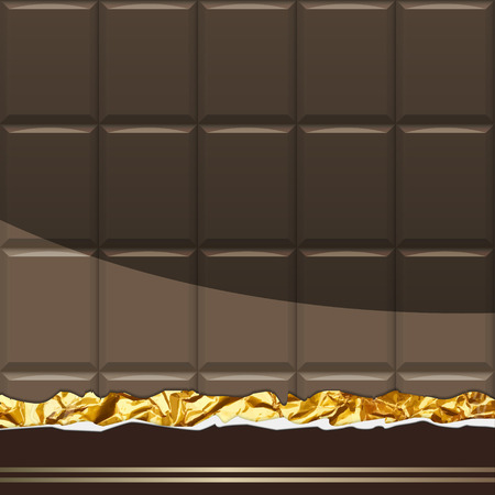 Dark Chocolate pattern. Vector Illustration