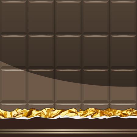 Modèle de chocolat noir. Illustration Vecteur Banque d'images - 77247480
