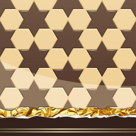 Modèle de chocolat au lait. Illustration Vecteur Banque d'images - 77247481