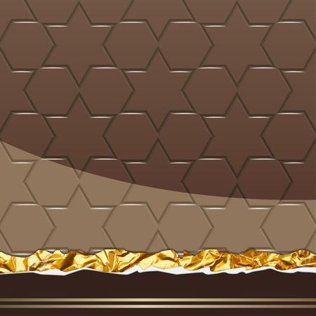 Modèle de chocolat au lait. Illustration Vecteur Banque d'images - 78822407