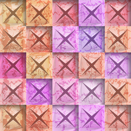 Abstract background stone squares. Vector Illustration Çizim