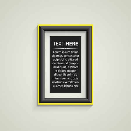 Classis frame on the wall. Vector Illustration