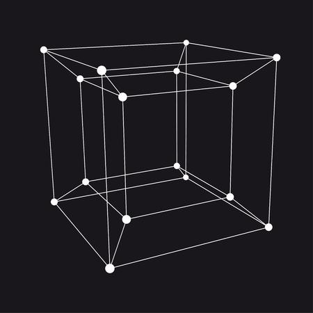 ハイパー 3 D オブジェクト。ベクトル図