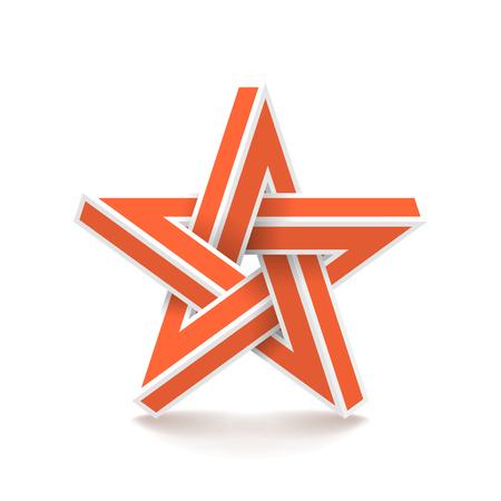 Impossible star. Vector Illustrstion