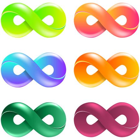 Infinity Symbol Logo set. Vector Illustration