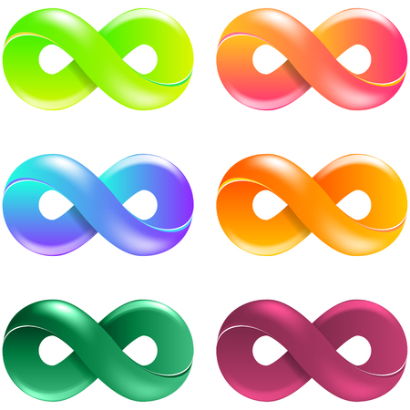 Infinity Symbol Logo set. Vector Illustration