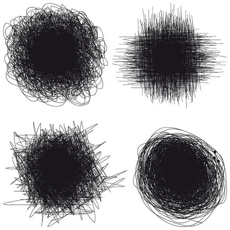 black blur splash freehand on a white background