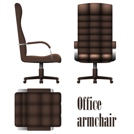 sumptuous: Deluxe office armchair isolated on white background. Vector Illustration