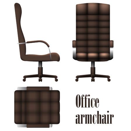 Sillón de oficina de lujo aislado sobre fondo blanco. Ilustración vectorial Foto de archivo - 78822486