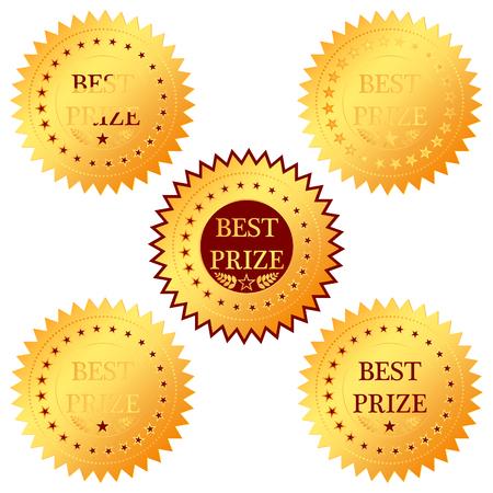 medal best prize on a white background Illustration