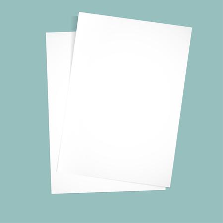 awry: Paper on a blue background mock up. Vector illustration Illustration