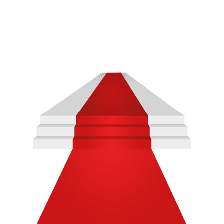 Podium ontwerpelement. Rode loper. Achtergrond. Vector illustratie