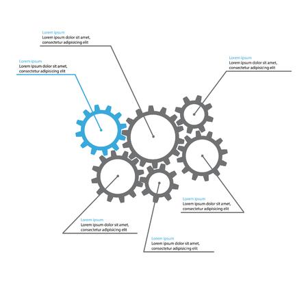 gears presentation template Ilustração