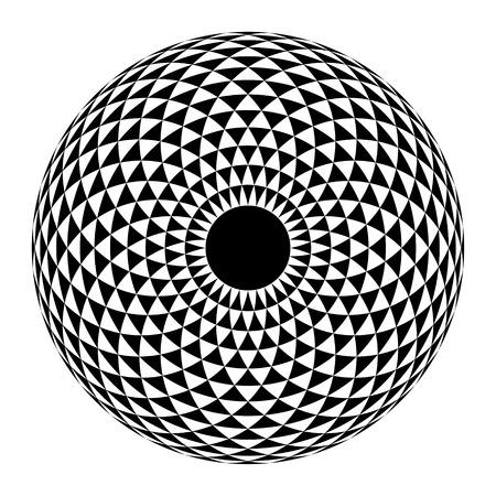 globe grid: Geometric eye mandala. Vector Illustration