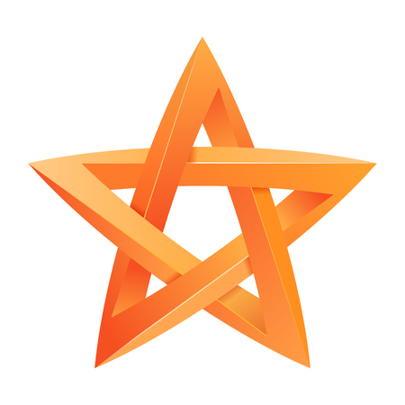 3 dimensions: Impossible star 3D for Your project. Icon or logo. Vector Illustration Illustration
