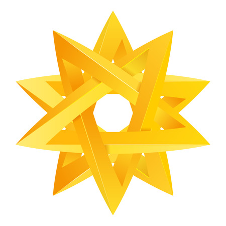 Impossible star 3D for Your project. Icon or logo. Vector Illustration Illustration