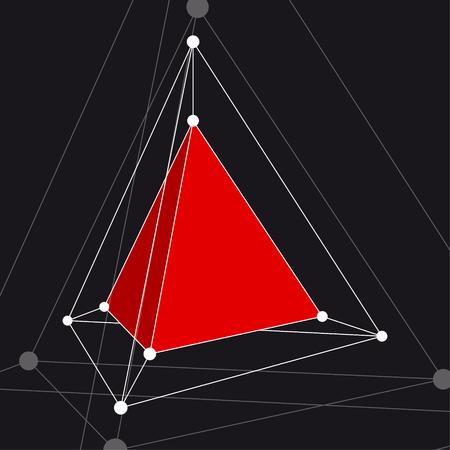 deltoid: Hypertetrahedron 3D object. Vector Illustration