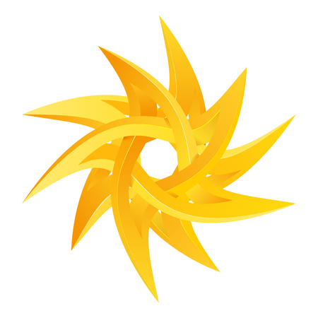 Impossible star 3D for Your project. Icon or logo. Vector Illustrstion Illustration