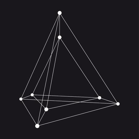 karkas: Hypertetrahedron 3D object. Vectorillustratie Stock Illustratie