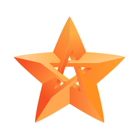 Impossible star 3D for Your project. Icon or logo. Vector Illustration 向量圖像