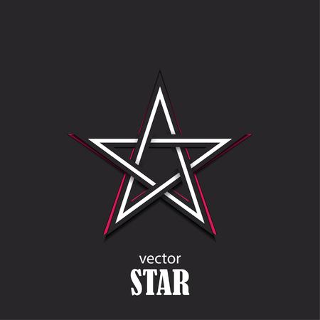 Star 3D abstract symbol. Popularity concept. Vector Illustration Ilustração