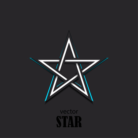 renown: Star 3D abstract symbol. Popularity concept. Vector Illustration Illustration
