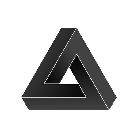 Abstracte onmogelijke driehoek. Vectorillustratie