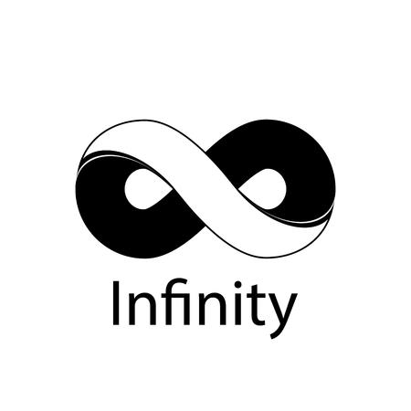 無限大記号のロゴ。ベクトル図  イラスト・ベクター素材