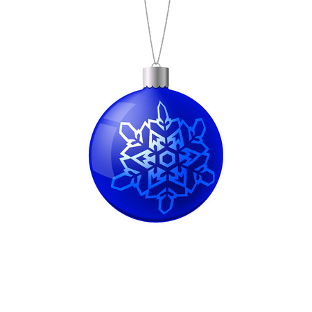 Christmas ball. New Year concept. Vector Illustration