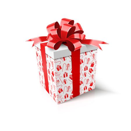 Christmas gift. New Year concept. Vector Illustration Archivio Fotografico - 114085439