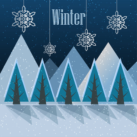 Winter. New Year postcard. Vector Illustration Banco de Imagens - 114085449