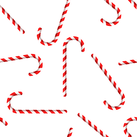 Merry Christmas and Happy New Year. Candy Cane. Seamless pattern. Vector Illustration