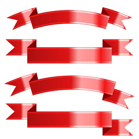 Ribbon set. Vector Illustration Archivio Fotografico - 127594013