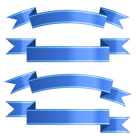 Ribbon set. Vector Illustration Reklamní fotografie - 127594014