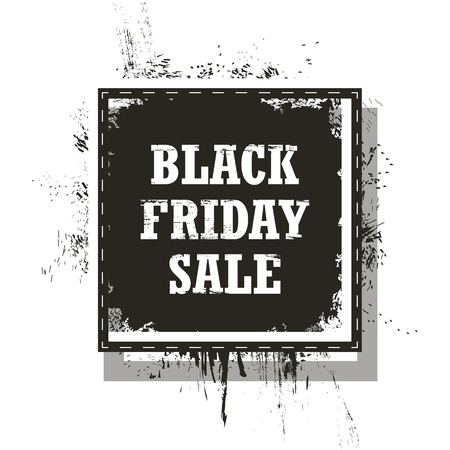 Black Friday Sale isolated on a white background. Grunge. Vector Illustration Vectores