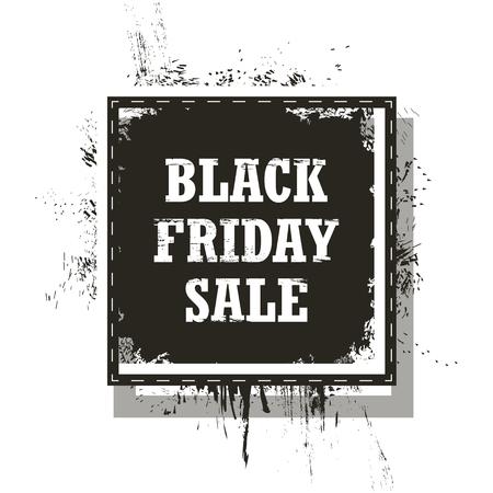 Black Friday Sale isolated on a white background. Grunge. Vector Illustration Illustration