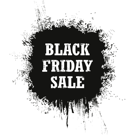 Black Friday Sale isolated on a white background. Grunge. Vector Illustration