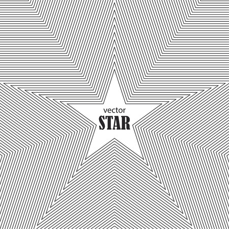 Star striped abstract background. Popularity concept. Vector Illustration Illustration