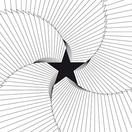 Star abstract background. Vector Illustration Ilustração