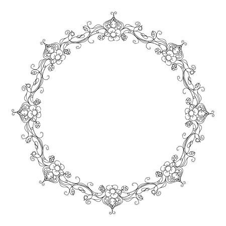 floral ornament frame wreath