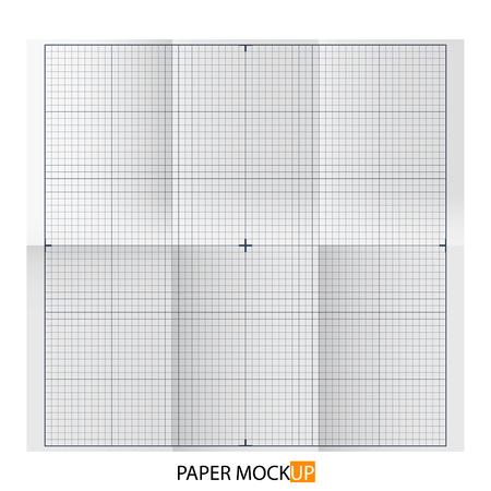 Paper poster for draft, backgrpund mock up. Realistic draft paper. For Your business project. Vector Illustration Illustration