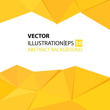 triangular abstract background yellow Vektorové ilustrace