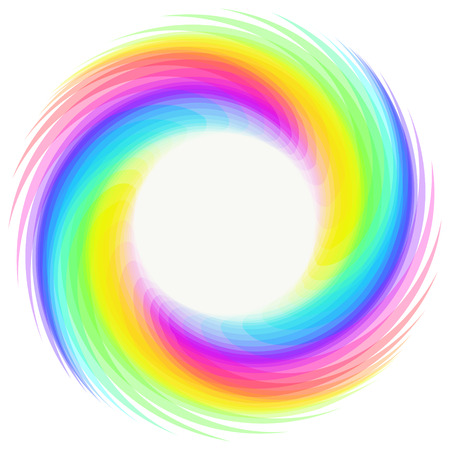 Rainbow whirlwind design element on white background. Rainbow circle for Your business project. Rainbow Vector Illustration
