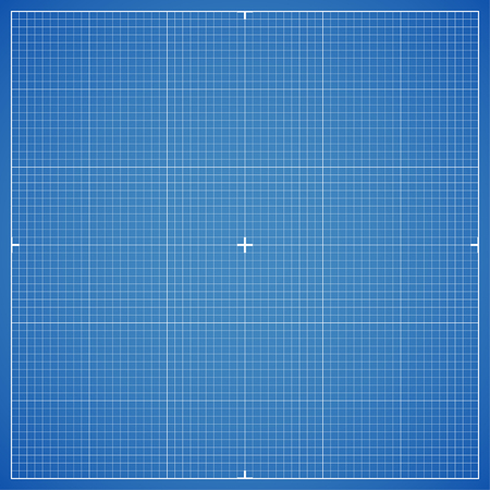 Blue drawing millimeter paper with linear markings. Vector Illustration Illustration