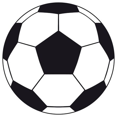Football, soccer ball isolated on white background. Soccer football ball icon for your business project. Football soccer ball Vector Illustration Ilustración de vector