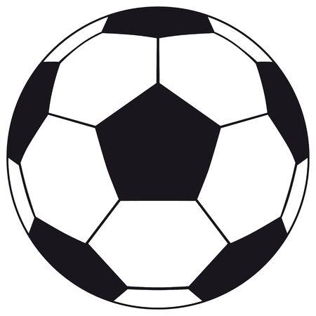 Voetbal, voetbal geïsoleerd op een witte achtergrond. Voetbal voetbal bal icoon voor uw zakelijk project. Voetbal voetbal vectorillustratie Vector Illustratie