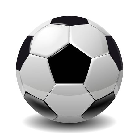 Football, soccer ball isolated on white background. Soccer football ball 3D realistic object for your business project. Football soccer ball Vector Illustration 向量圖像