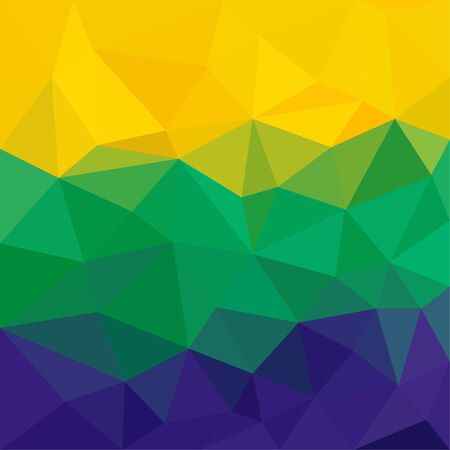 Brazil flag concept low poly triangular abstract background